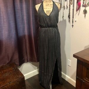 NWT Nasty Gal Backless Long Metallic Dress Size S